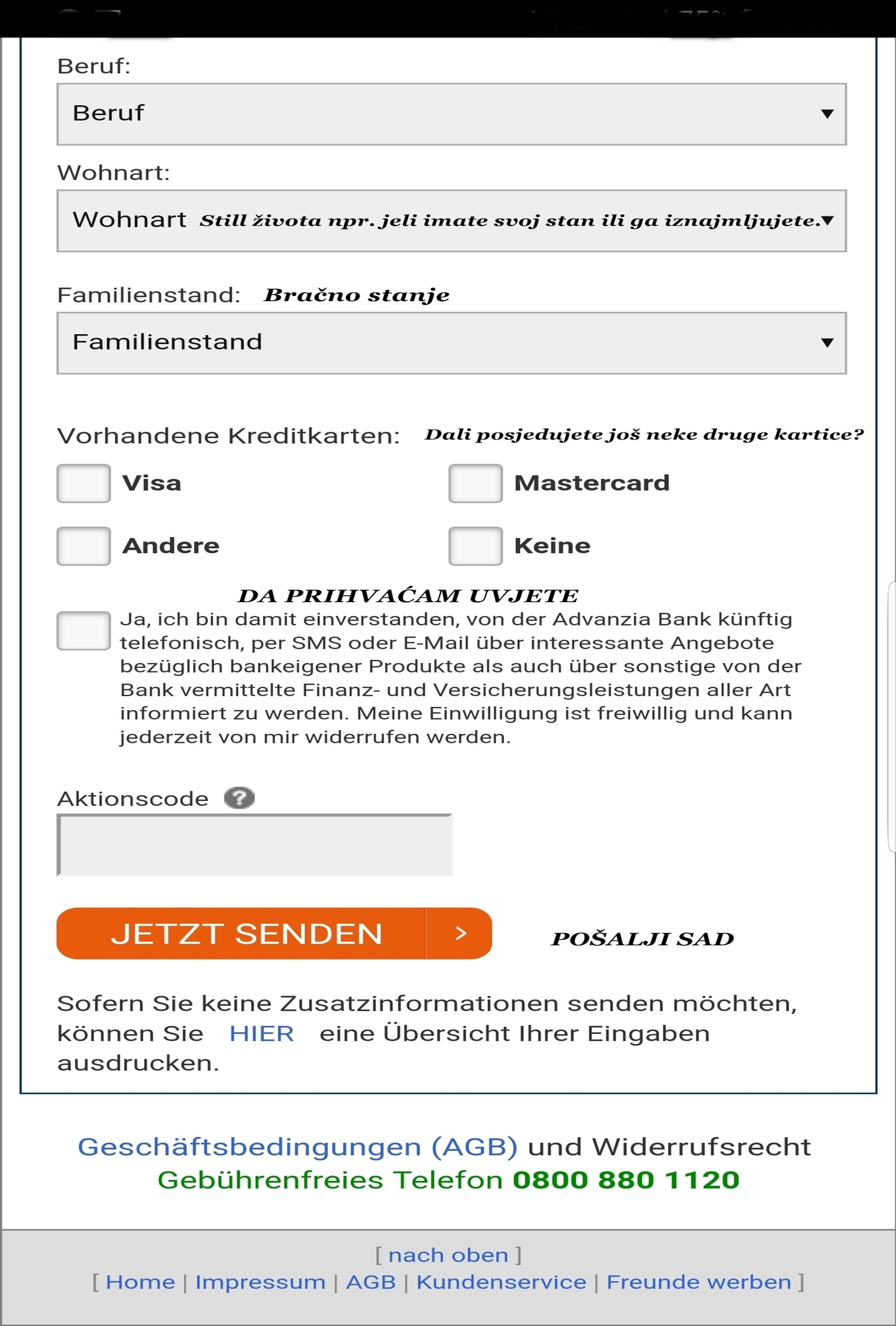 kreditne kartice u njemačkoj